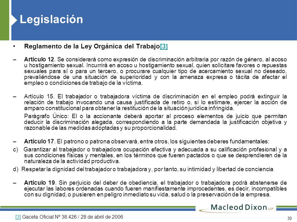 Legislación Reglamento de la Ley Orgánica del Trabajo[3]